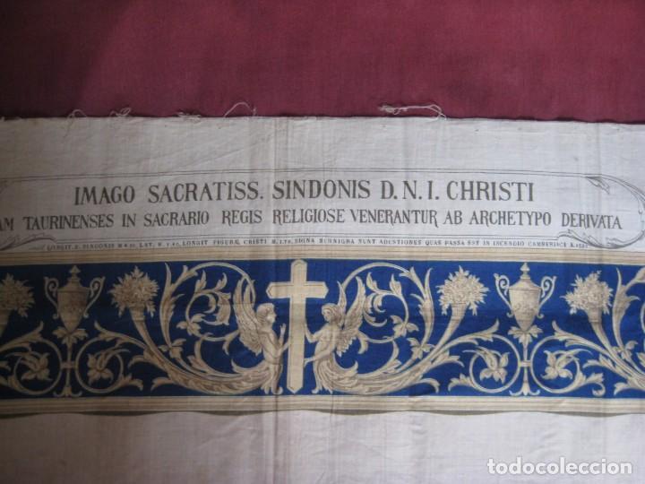 Arte: Grabado s.XIX Sábana Santa de Turín. Regalo invitados enlace real Victor Manuel III de Saboya. 1898 - Foto 17 - 199239845