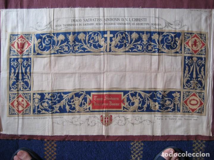 Arte: Grabado s.XIX Sábana Santa de Turín. Regalo invitados enlace real Victor Manuel III de Saboya. 1898 - Foto 18 - 199239845