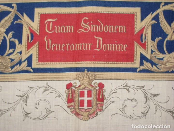 Arte: Grabado s.XIX Sábana Santa de Turín. Regalo invitados enlace real Victor Manuel III de Saboya. 1898 - Foto 19 - 199239845