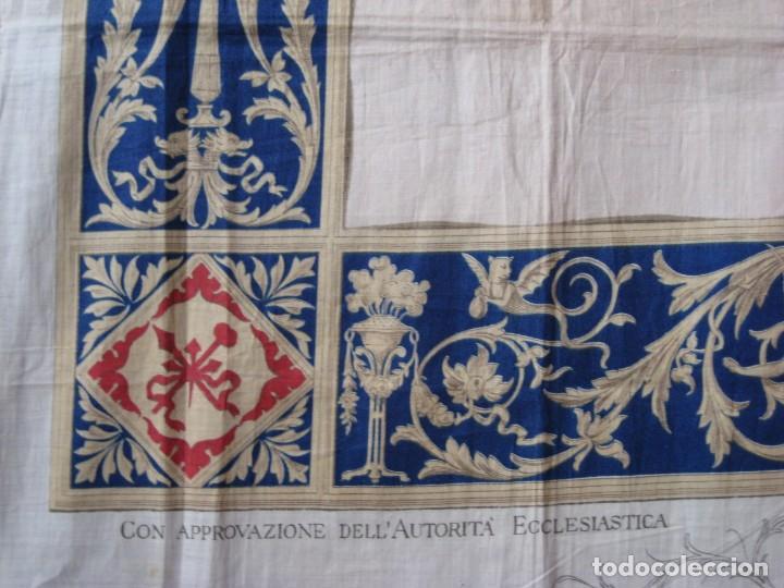 Arte: Grabado s.XIX Sábana Santa de Turín. Regalo invitados enlace real Victor Manuel III de Saboya. 1898 - Foto 20 - 199239845