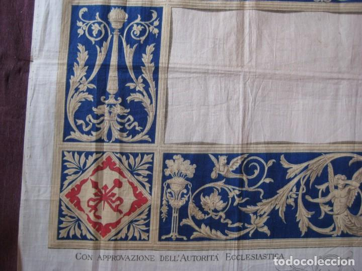 Arte: Grabado s.XIX Sábana Santa de Turín. Regalo invitados enlace real Victor Manuel III de Saboya. 1898 - Foto 26 - 199239845