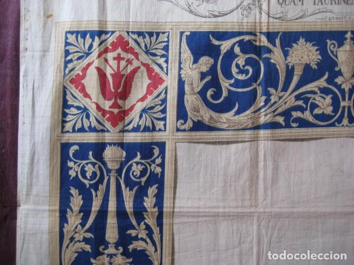 Arte: Grabado s.XIX Sábana Santa de Turín. Regalo invitados enlace real Victor Manuel III de Saboya. 1898 - Foto 27 - 199239845
