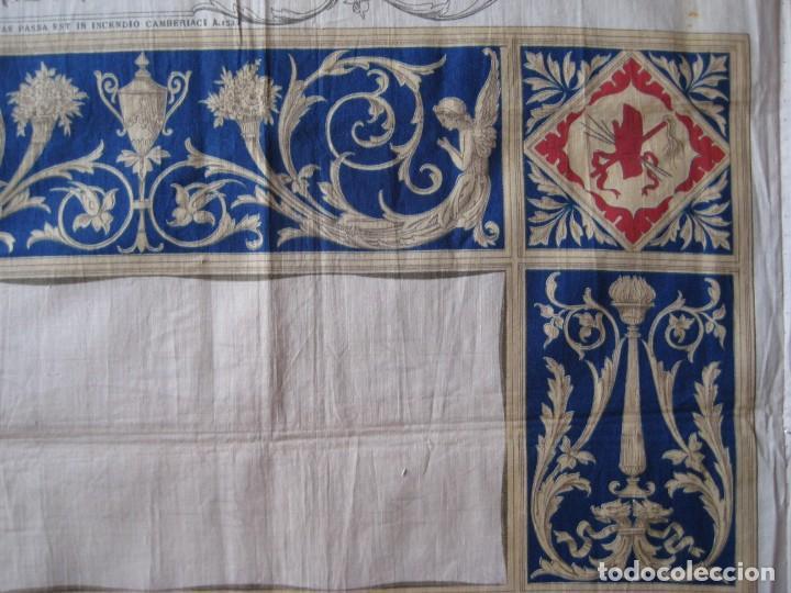 Arte: Grabado s.XIX Sábana Santa de Turín. Regalo invitados enlace real Victor Manuel III de Saboya. 1898 - Foto 28 - 199239845