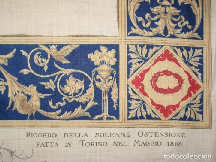Arte: Grabado s.XIX Sábana Santa de Turín. Regalo invitados enlace real Victor Manuel III de Saboya. 1898 - Foto 30 - 199239845