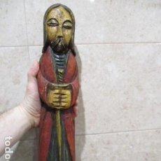Arte: BONITA TALLA DE MADERA MACIZA DE JESÚS - 46 CM DE ALTURA.. Lote 199412355