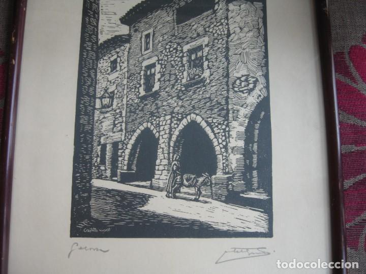 Arte: LAMINA ENMARCADA CON CRSTAL Y CON TRES FIRMAS - Foto 3 - 199493382