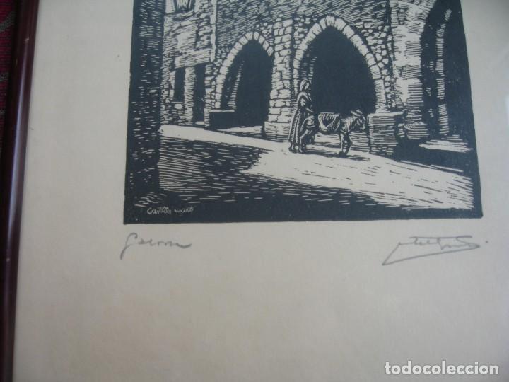 Arte: LAMINA ENMARCADA CON CRSTAL Y CON TRES FIRMAS - Foto 4 - 199493382