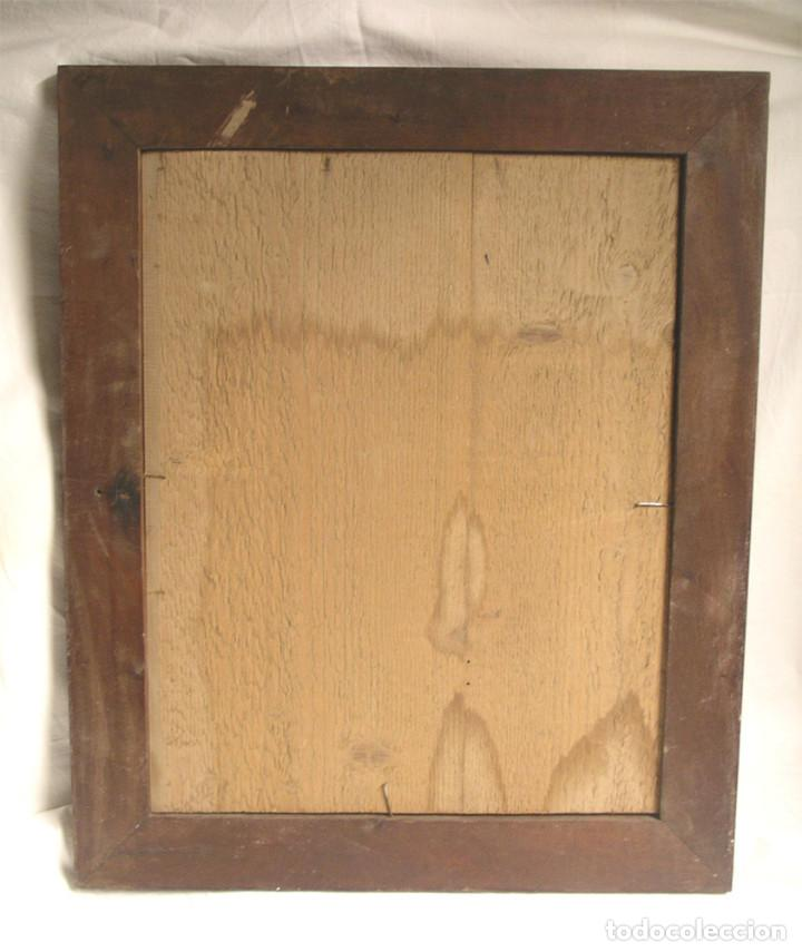 Arte: Paso Via Crucis Oleo sobre estaño mitad S XIX, marco caoba macizo. Med. 42 x 52 cm - Foto 6 - 199788645