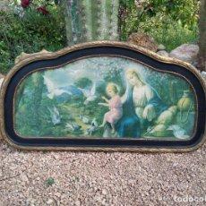 Arte: IMAGEN RELIGIOSA CON SU MARCO VIRGEN CON NIÑO. Lote 199791138