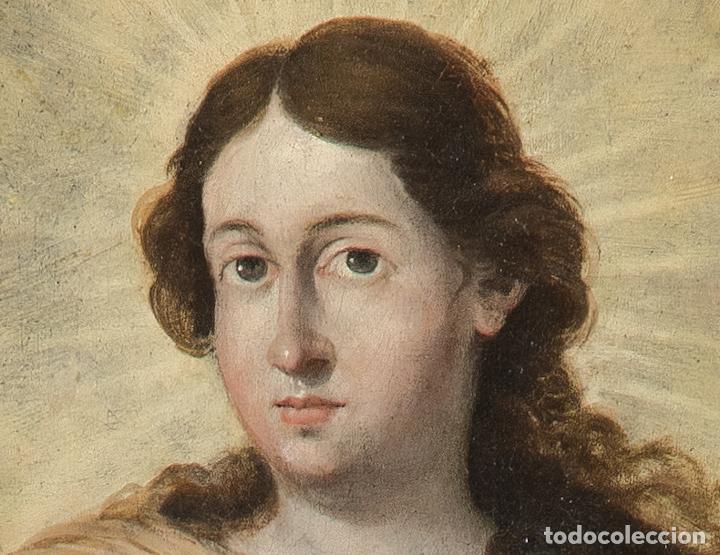 Arte: Óleo lienzo Inmaculada Concepción Ignacio de Ríes Sevilla ca. 1612 - Sevilla 1661 - Foto 5 - 196625065