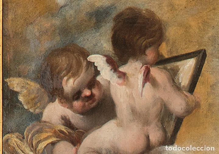 Arte: Óleo lienzo Inmaculada Concepción Ignacio de Ríes Sevilla ca. 1612 - Sevilla 1661 - Foto 8 - 196625065