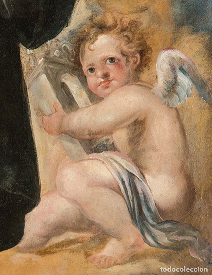 Arte: Óleo lienzo Inmaculada Concepción Ignacio de Ríes Sevilla ca. 1612 - Sevilla 1661 - Foto 10 - 196625065
