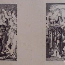 Arte: 2 CINCOGRAFÍAS, JESUS Y LAZARO Y ENTRADA EN JESURALEN, DE 1845. Lote 199824181