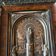 Arte: PLACA ENMARCADA DE LA VIRGEN DEL PILAR ANTIGUA. Lote 199872990