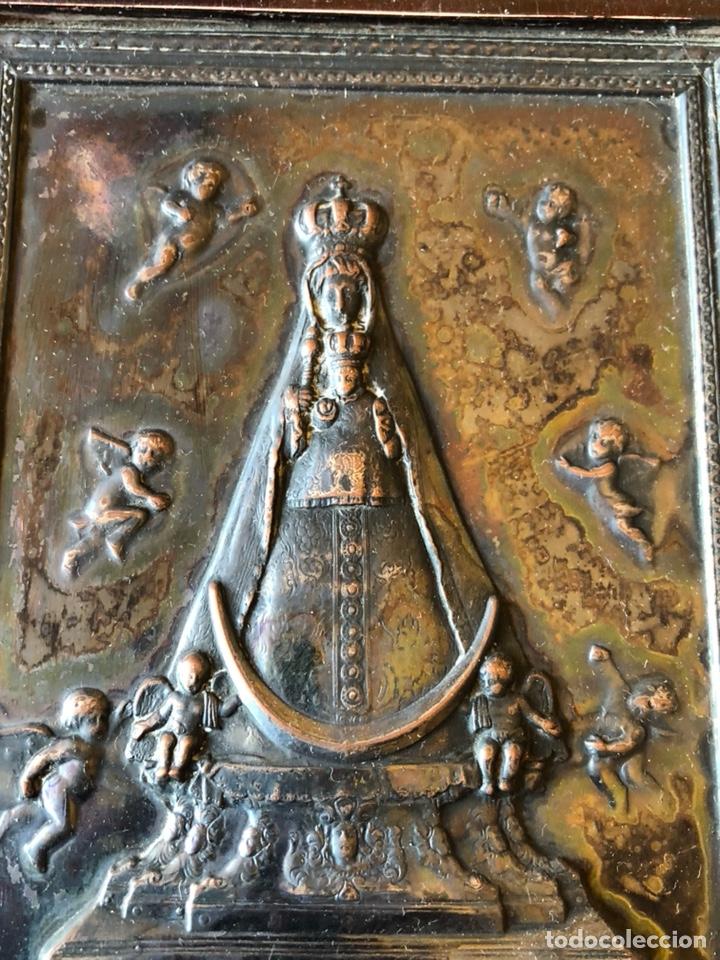 Arte: Placa enmarcada de la virgen de Begoña - Foto 2 - 199873083