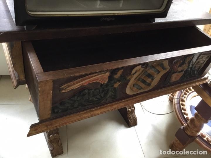 Arte: Antigua mesa tallada y policromada - Foto 6 - 199975780