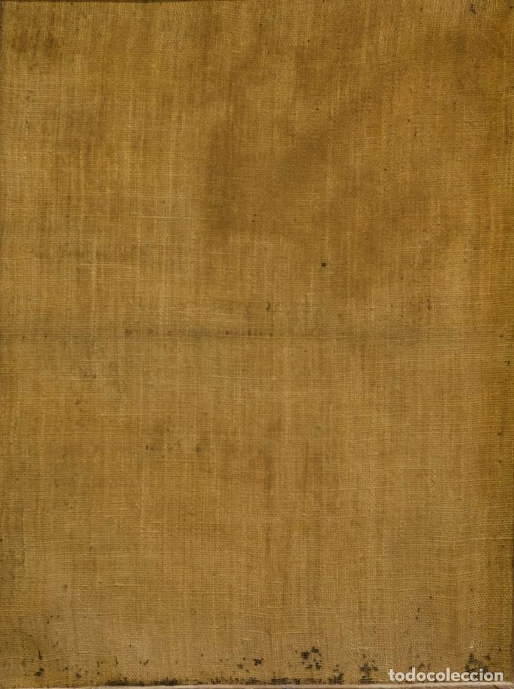 Arte: San Miguel Arcángel. Óleo sobre lienzo. Escuela colonial, s. XVII. - Foto 5 - 199990497