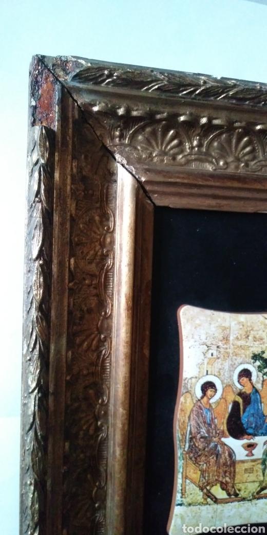 Arte: LA SANTÍSIMA TRINIDAD con antiguo cuadro - Foto 3 - 200040653