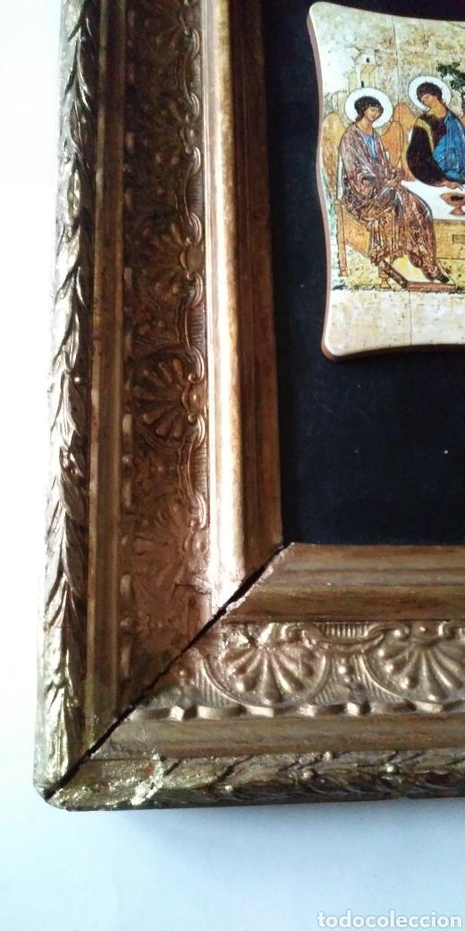 Arte: LA SANTÍSIMA TRINIDAD con antiguo cuadro - Foto 6 - 200040653