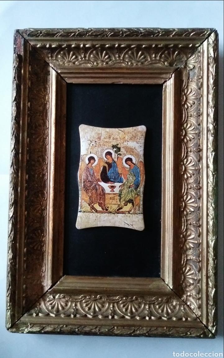 LA SANTÍSIMA TRINIDAD CON ANTIGUO CUADRO (Arte - Arte Religioso - Iconos)