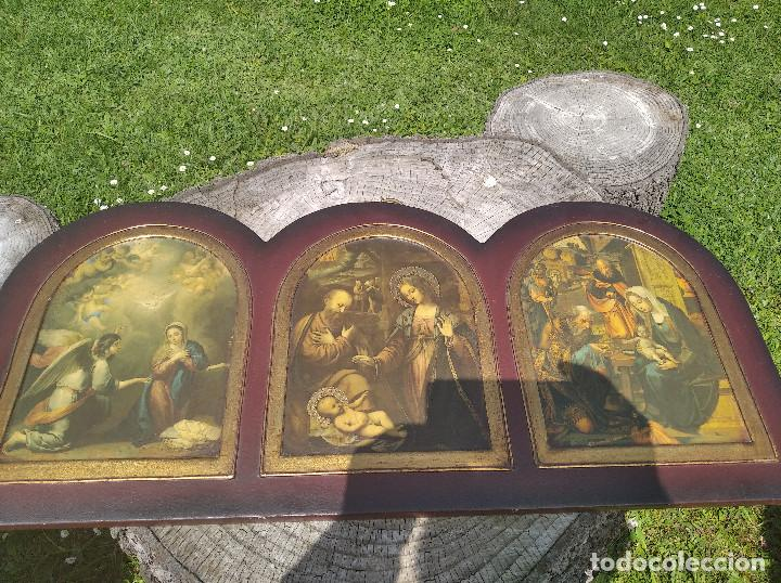 TRIPTICO RELIGIOSO : LA NATIVIDAD (Arte - Arte Religioso - Grabados)