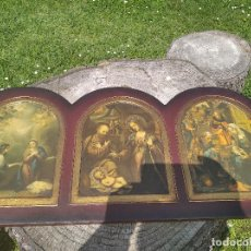 Arte: TRIPTICO RELIGIOSO : LA NATIVIDAD. Lote 200257361