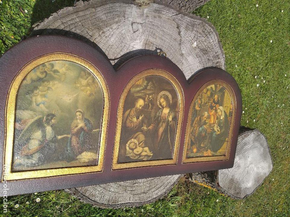 Arte: Triptico religioso : La natividad - Foto 2 - 200257361