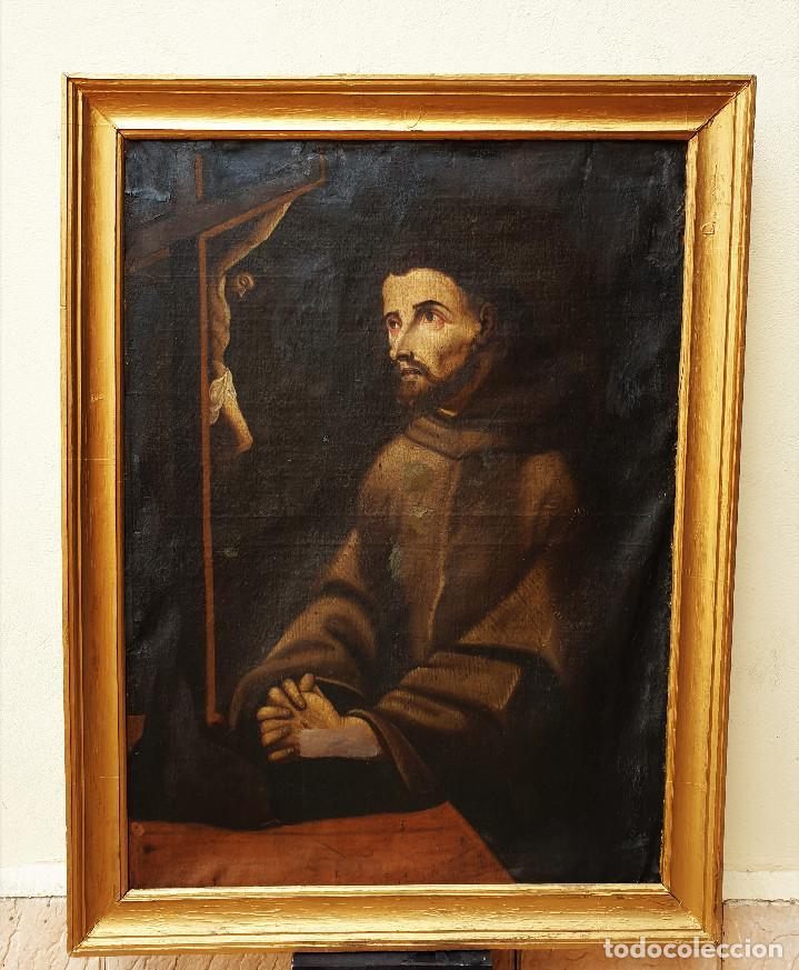 SAN FRANCISCO. IMPORTANTE PINTURA TENEBRISTA. ÓLEO SOBRE LIENZO. SIGLO XVII. CÍRCULO LUIS TRISTÁN. (Arte - Arte Religioso - Pintura Religiosa - Oleo)