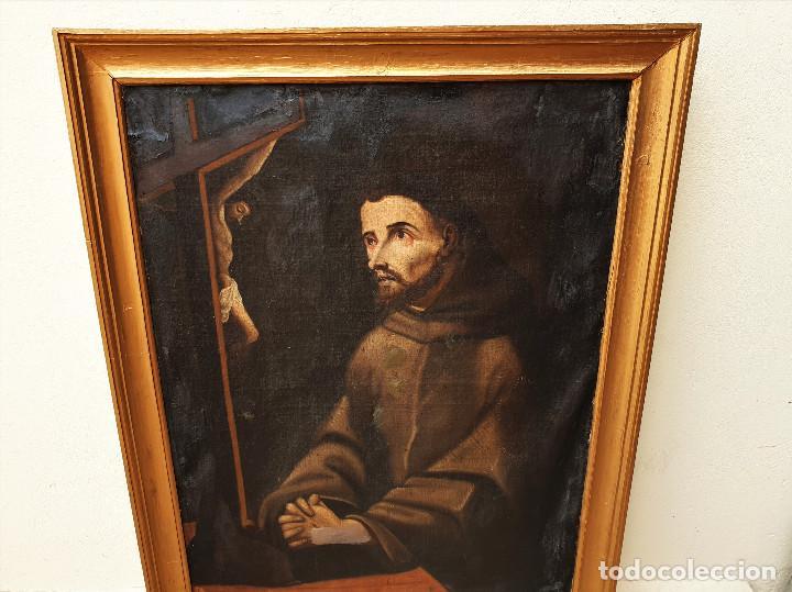 Arte: San Francisco. Importante pintura tenebrista. Óleo sobre lienzo. Siglo XVII. Círculo Luis Tristán. - Foto 5 - 200340810