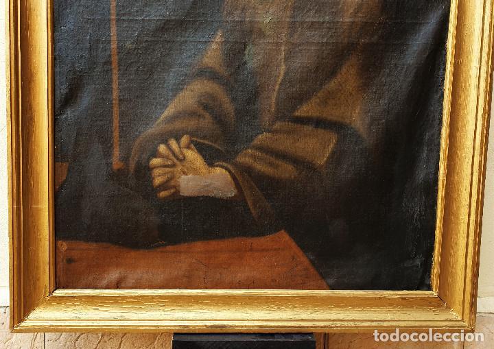 Arte: San Francisco. Importante pintura tenebrista. Óleo sobre lienzo. Siglo XVII. Círculo Luis Tristán. - Foto 6 - 200340810