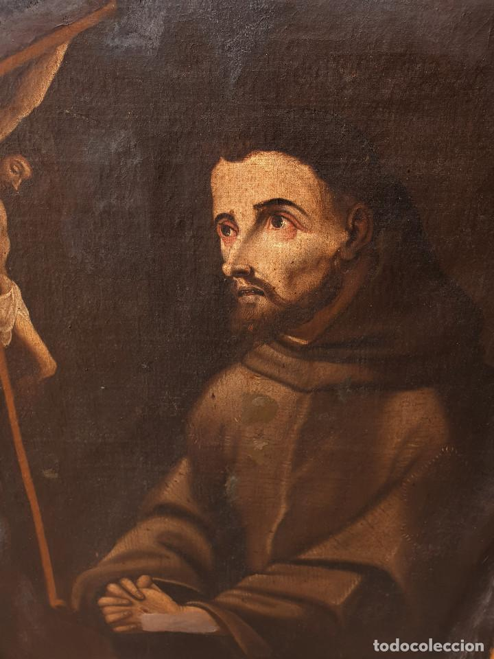 Arte: San Francisco. Importante pintura tenebrista. Óleo sobre lienzo. Siglo XVII. Círculo Luis Tristán. - Foto 8 - 200340810