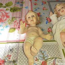 Arte: LOTE DE 2 NIÑOS JESÚS UNO DE OLOT. Lote 200546072