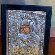 Arte: PRECIOSO ICONO VIRGEN EN ESTAÑO . Lote 200648988