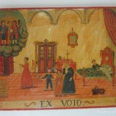 Arte: PRECIOSO EX VOTO - RETABLO - ÓLEO SOBRE TABLA - ESCUELA CATALANA - SAN COSME Y SAN DAMIAN - AÑO 1828. Lote 200649890