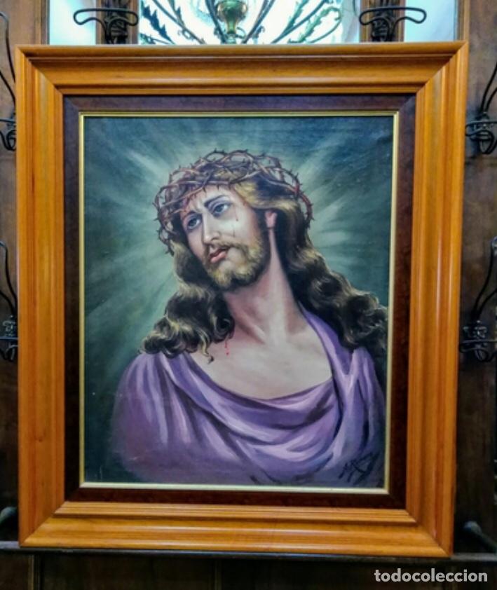 JESUS DE NAZARENO , ALFONSO ROMERO MESA. (Arte - Arte Religioso - Pintura Religiosa - Oleo)