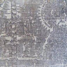 Arte: LIBRERIA GHOTICA. RARO GRABADO DE MÍSTICA SOBRE LA GLORIA CELESTIAL.1850.FOLIO.. Lote 200800866