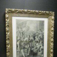 Arte: EL PASMO DE SICILIA DE RAFAEL SANZIO MUSEO DEL PRADO GRABADO 1880. Lote 200804815