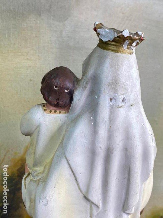 Arte: ESCULTURA RELIGIOSA VIRGEN CON NIÑO 33 CM DE ALTO - Foto 3 - 200815873