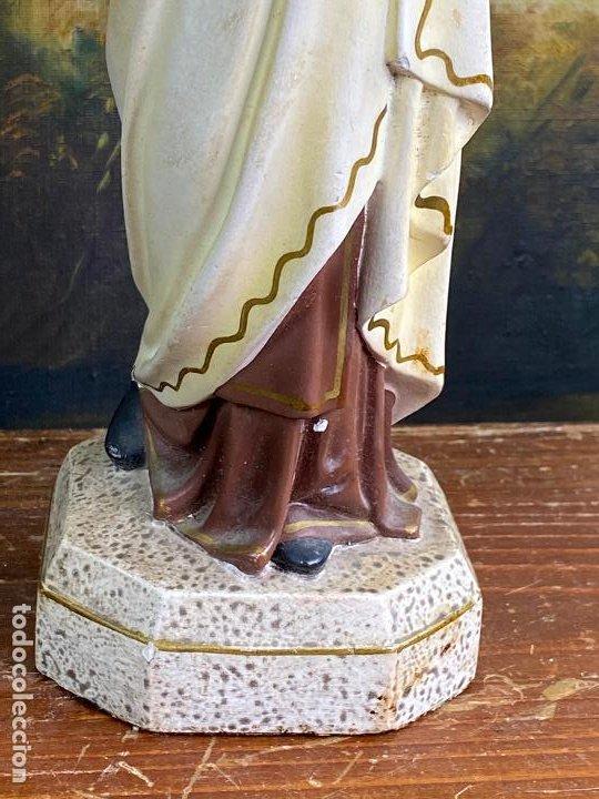 Arte: ESCULTURA RELIGIOSA VIRGEN CON NIÑO 33 CM DE ALTO - Foto 4 - 200815873