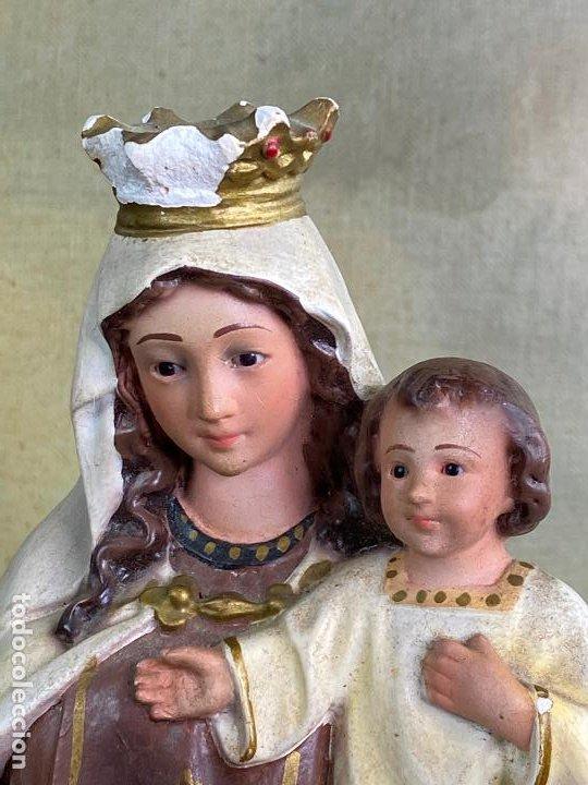 Arte: ESCULTURA RELIGIOSA VIRGEN CON NIÑO 33 CM DE ALTO - Foto 8 - 200815873