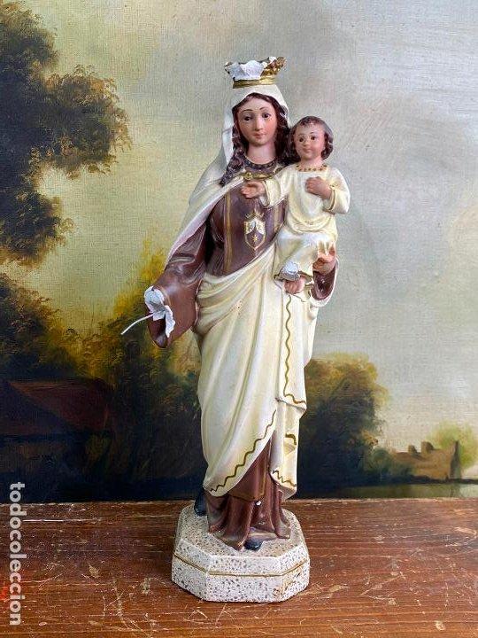 ESCULTURA RELIGIOSA VIRGEN CON NIÑO 33 CM DE ALTO (Arte - Arte Religioso - Escultura)