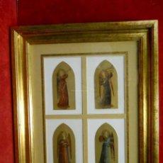 Arte: CUADRO DE 4 ANGELO MUSICANTE FRA ANGELICO MUSEO FLORENCIA. Lote 200884595