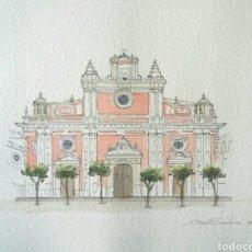 Art: LÁMINA IGLESIA DEL SALVADOR SEVILLA. Lote 201123427