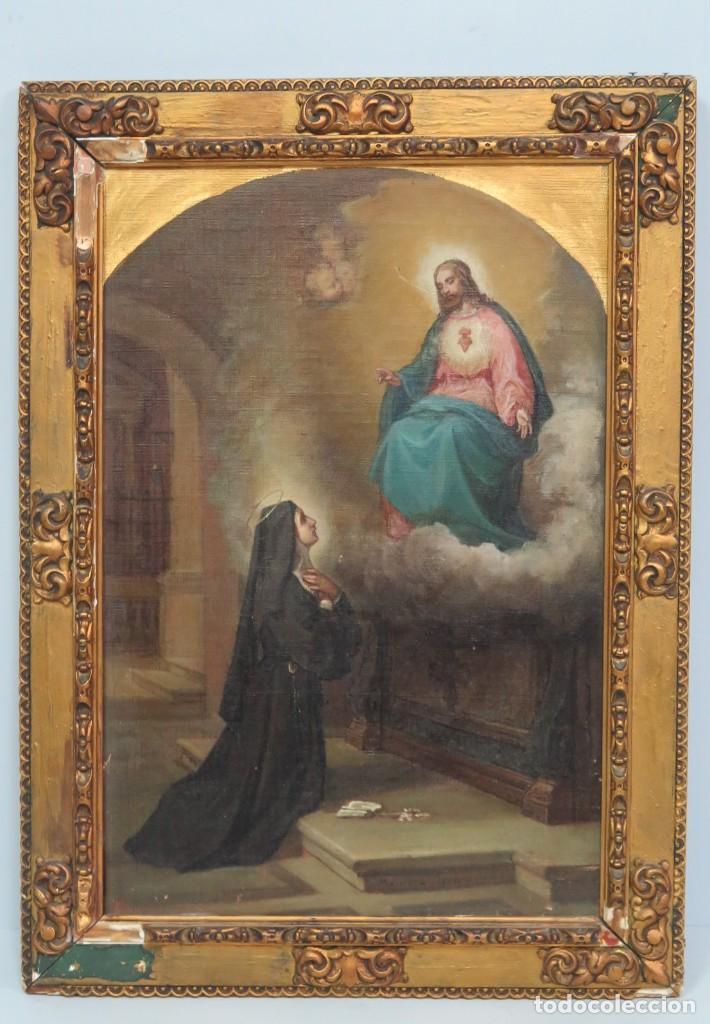 APARACION DE JESUS A SANTA MARGARITA MARIA DE ALACOQUE. GABRIEL MAURETA Y ARACIL (1832-1912). 1864 (Arte - Arte Religioso - Pintura Religiosa - Oleo)