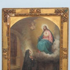 Arte: APARACION DE JESUS A SANTA MARGARITA MARIA DE ALACOQUE. GABRIEL MAURETA Y ARACIL (1832-1912). 1864. Lote 201158800