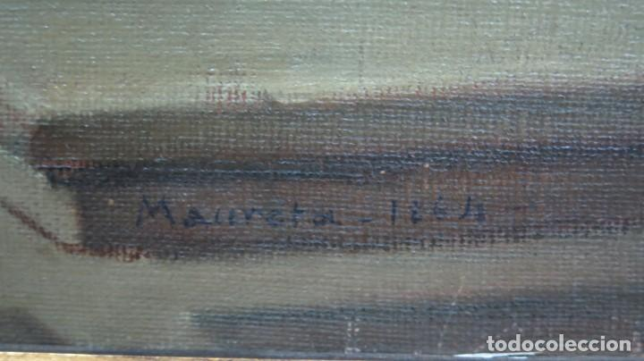 Arte: APARACION DE JESUS A SANTA MARGARITA MARIA DE ALACOQUE. GABRIEL MAURETA Y ARACIL (1832-1912). 1864 - Foto 2 - 201158800