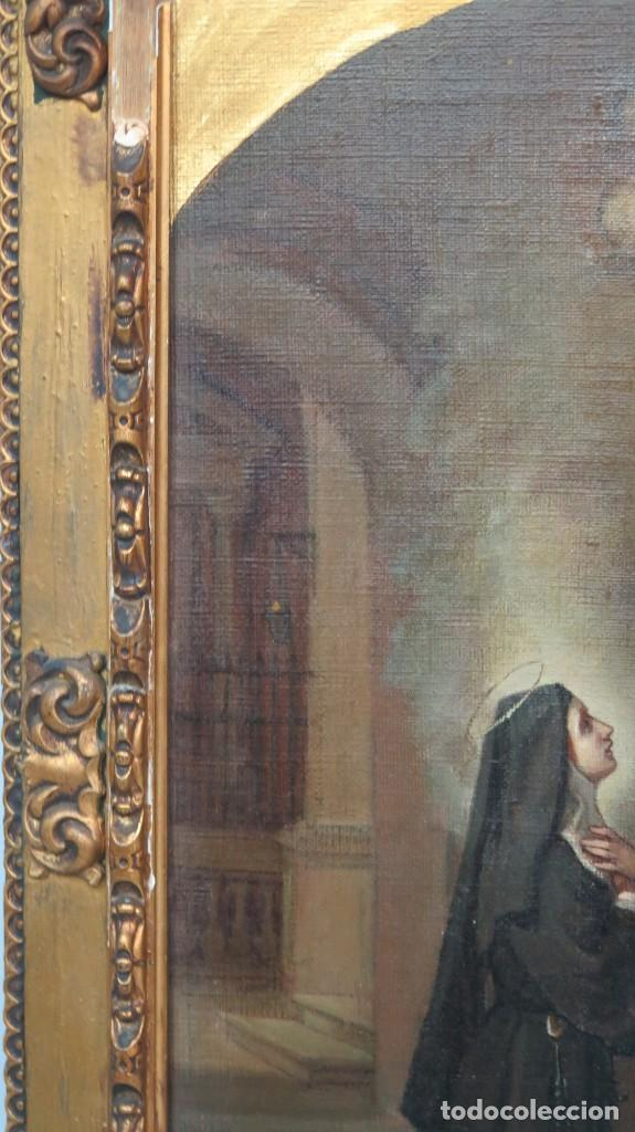 Arte: APARACION DE JESUS A SANTA MARGARITA MARIA DE ALACOQUE. GABRIEL MAURETA Y ARACIL (1832-1912). 1864 - Foto 3 - 201158800