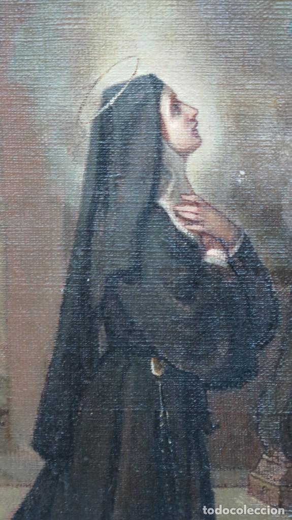 Arte: APARACION DE JESUS A SANTA MARGARITA MARIA DE ALACOQUE. GABRIEL MAURETA Y ARACIL (1832-1912). 1864 - Foto 4 - 201158800