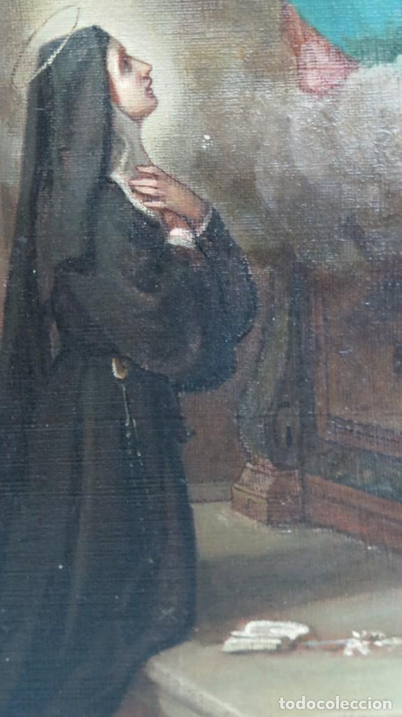 Arte: APARACION DE JESUS A SANTA MARGARITA MARIA DE ALACOQUE. GABRIEL MAURETA Y ARACIL (1832-1912). 1864 - Foto 5 - 201158800
