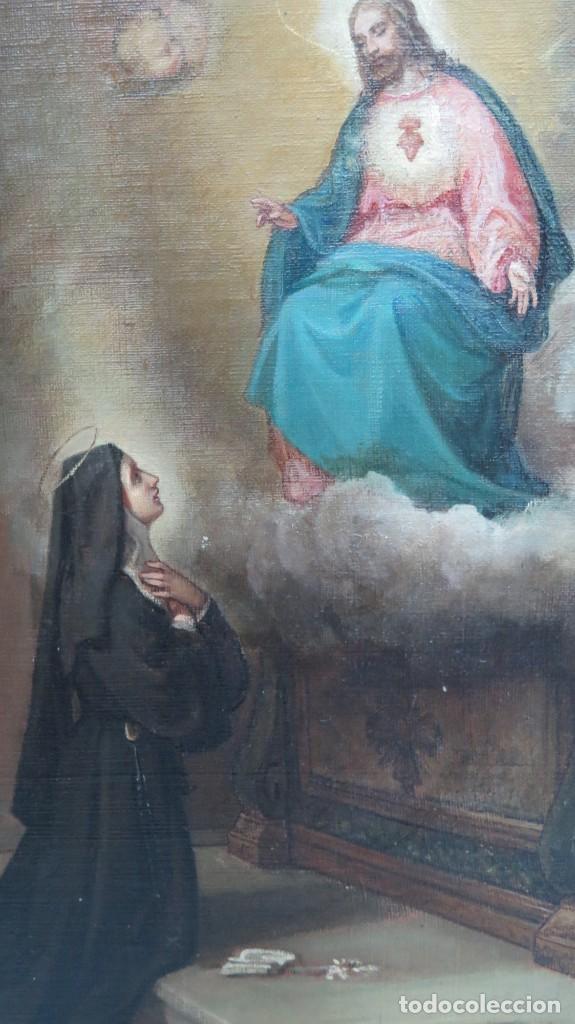 Arte: APARACION DE JESUS A SANTA MARGARITA MARIA DE ALACOQUE. GABRIEL MAURETA Y ARACIL (1832-1912). 1864 - Foto 6 - 201158800